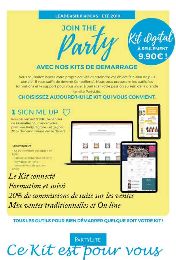 Le kit digital Partylite
