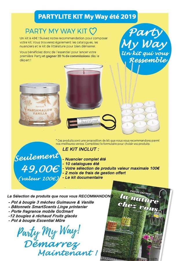 Partylite kit My Way bien démarrer