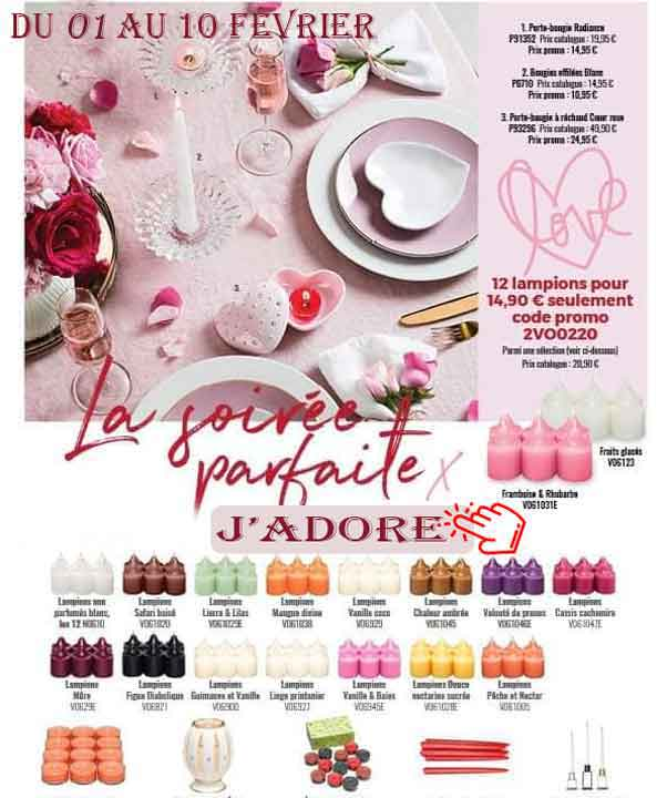 offre St-Valentin Partylite